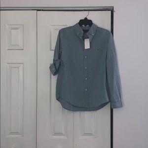 Boys Denim Ralph Lauren polo button down shirt